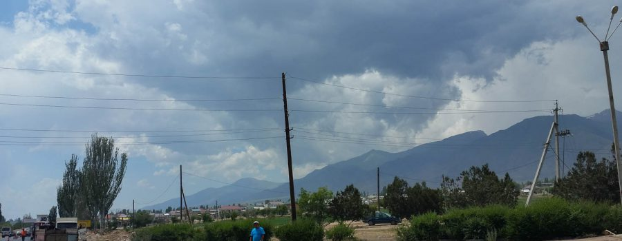 Day 86: Stormy Afternoon at Lake Issyk Kul