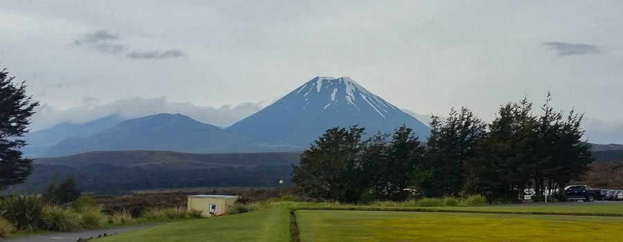 Mt. Ngauruhoe at Tongariro National Park