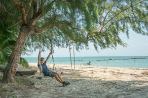 Relaxing on South Beach in Koh Samui