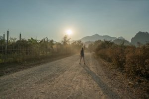 Magic Sunset near Vang Vieng