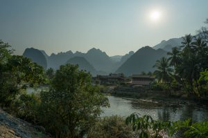 Limestone Cliffs near Vang Vieng