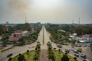 View from Patuxay in Vientiane