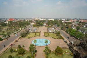 View from Patuxay Monument in Vientiane