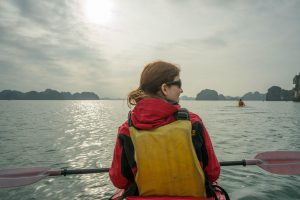 Kayak Perspective at Halong Bay