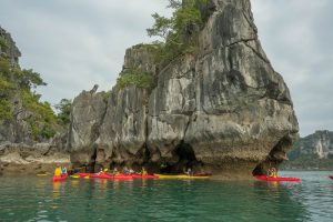 Kayaking at Halong Bay