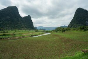 Farmland in the Mountains on Tu Lan Expedition