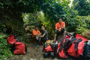 Resting on Tu Lan Expedition