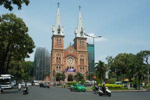 Notre Dame Cathedral in Ho-Chi-Minh-City