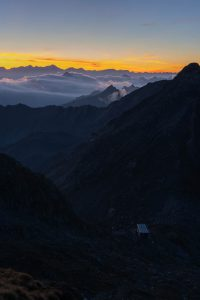 Sunrise above Capanna Cristallina